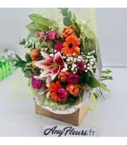 Bouquet tulipes et roses